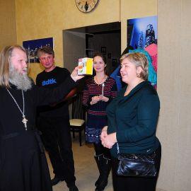 Второе место тоже призовое Духовные чада отца Виктора празднуют день святителя Николая. 22.12.2013 г.