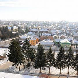 Вид с Почаевской горы (возвышается на 70 метров) Паломничество. Почаев 30.12.2014 - 03.01.2015 г.
