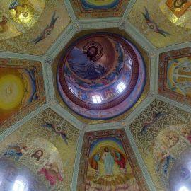 Купол Преображенского собора Почаевской лавры уже расписан Паломничество. Почаев 30.12.2014 - 03.01.2015 г.