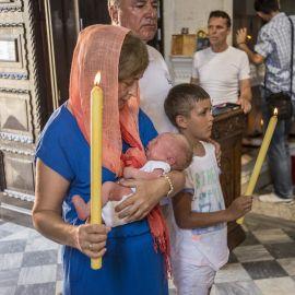 Матушка Вера - крестная младенца Петра Паломническая поездка отца Виктора в Черногорию. 10-24 июля 2016 г.
