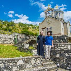 Отец Виктор и администратор сайта батюшки в монастыре Димитрия Солунского Паломническая поездка отца Виктора в Черногорию. 10-24 июля 2016 г.