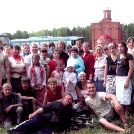 Алапаевск. мон-рь, на месте, где были брошены живыми в шахту кн. Елисавета, ин. Варвара и др. члены Царского рода Екатеринбург 2008