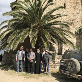 Фото под пальмой - и в путь! Фотоотчет из поездки на Афон 2017