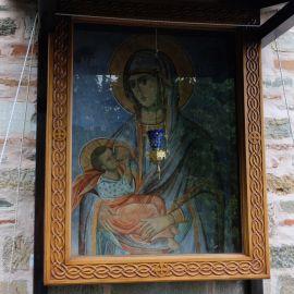В Сербской келье хранится икона Божьей Матери «Млекопитательница» Фотоотчет из поездки на Афон 2017