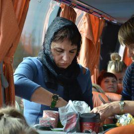 В автобусных переездах не скучаем - угощаемся кофе, чаем Паломническая поездка Боголюбово — Муром — Дивеево. 11-17.10.2019 г.