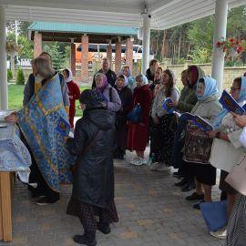 Отслужили водосвятный молебен с акафистом Высочиновской иконы Божьей Матери Выезд на природу, 4.09.2021 г.