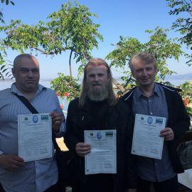 7 мая паломники получили афонскую визу (диамонитирион)... Паломническая поездка отца Виктора на Афон. 6-13.05.2016 г.