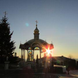 Рассвет в Свято-Успенской Почаевской лавре Паломническая поездка в Почаевскую лавру на Новый 2017 год