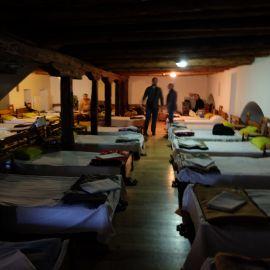 Паломническая гостиница в Великой лавре, Афон Фотоотчет из поездки на Афон 2017